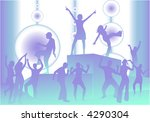 party scene   vector... | Shutterstock .eps vector #4290304