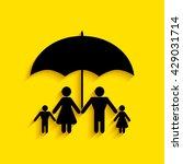 family under umbrella   family... | Shutterstock .eps vector #429031714