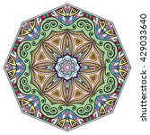 mandala flower decoration ... | Shutterstock .eps vector #429033640
