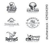 dino logo set. dinosaur... | Shutterstock .eps vector #429034390