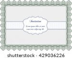 vintage invitation template.... | Shutterstock .eps vector #429036226