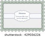 vintage invitation template.... | Shutterstock .eps vector #429036226