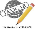 taxicab drawn with pencil... | Shutterstock .eps vector #429036808