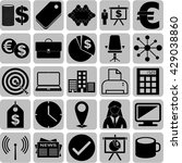 25 businessicon set. set of web ... | Shutterstock .eps vector #429038860