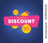 special offer sale tag discount ... | Shutterstock .eps vector #429044320