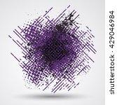 figured brush strokes brush and ... | Shutterstock . vector #429046984