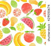vector seamless fruit pattern.... | Shutterstock .eps vector #429050674