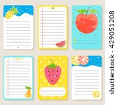 summer fruit and berry cards.... | Shutterstock .eps vector #429051208