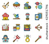 icon set character vector | Shutterstock .eps vector #429051796
