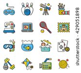 icon set hobby vector | Shutterstock .eps vector #429051898