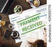 payment received taxation tax... | Shutterstock . vector #429053770