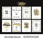save the date cards  boho... | Shutterstock .eps vector #429054160