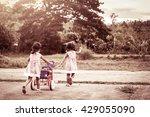 child two little girls having... | Shutterstock . vector #429055090
