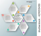 vector abstract 3d paper... | Shutterstock .eps vector #429055450