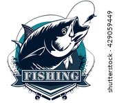 tuna fish. tuna fishing emblem. ... | Shutterstock .eps vector #429059449
