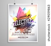 electro night club music party... | Shutterstock .eps vector #429059863
