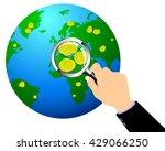 hands of a businessman using a... | Shutterstock .eps vector #429066250