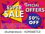 big sale 50  off banner on... | Shutterstock .eps vector #429068713