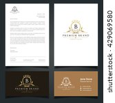luxury logo and corporate... | Shutterstock .eps vector #429069580