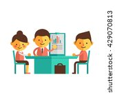 set of characters in a flat... | Shutterstock .eps vector #429070813