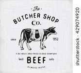 butcher shop vintage emblem... | Shutterstock .eps vector #429074920