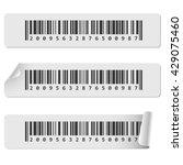 horizontal white barcode... | Shutterstock .eps vector #429075460