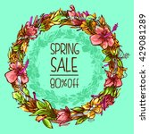 vector design spring sale... | Shutterstock .eps vector #429081289