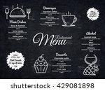 restaurant menu design. vector... | Shutterstock .eps vector #429081898