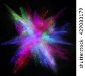 freeze motion of colored dust... | Shutterstock . vector #429083179