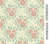 floral seamless pattern.... | Shutterstock . vector #429083434