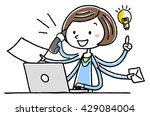 illustration material  young... | Shutterstock .eps vector #429084004