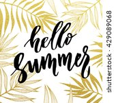 hello summer lettering with... | Shutterstock .eps vector #429089068