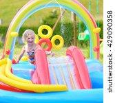 happy healthy kid having fun in ... | Shutterstock . vector #429090358