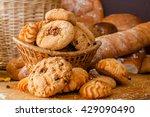 cookies and sweet pastries in... | Shutterstock . vector #429090490