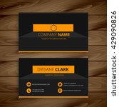 modern dark business card... | Shutterstock .eps vector #429090826
