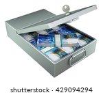 open metal bank safety deposit...   Shutterstock . vector #429094294