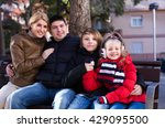 average young family with two... | Shutterstock . vector #429095500