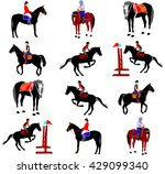 horse collection   vector... | Shutterstock .eps vector #429099340