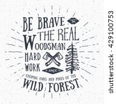 lumberjack vintage label with... | Shutterstock .eps vector #429100753