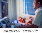 blur of doctor sitting at the... | Shutterstock . vector #429107029