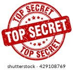 top secret. stamp. red round... | Shutterstock .eps vector #429108769