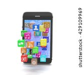 icon app fall in smart phone....   Shutterstock . vector #429109969