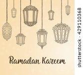 ramadan kareem theme. vector... | Shutterstock .eps vector #429110368