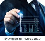 financial analysis with charts. ... | Shutterstock . vector #429121810