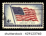 usa   circa 1957  a stamp... | Shutterstock . vector #429123760