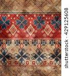 ethnic boho grunge old pattern. ...