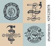 logo mechanical repair shop in... | Shutterstock .eps vector #429125878