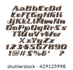chocolate alphabets on isolated ... | Shutterstock . vector #429125998