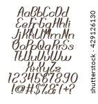 chocolate alphabets on isolated ... | Shutterstock . vector #429126130