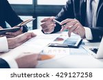 group of business people busy... | Shutterstock . vector #429127258
